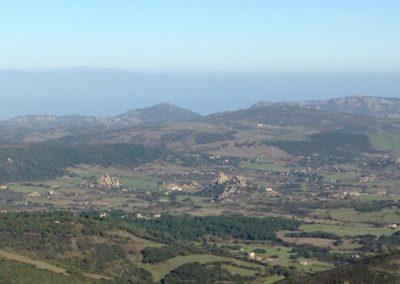 vista panoramica di Bonaita, frazione di Aggius