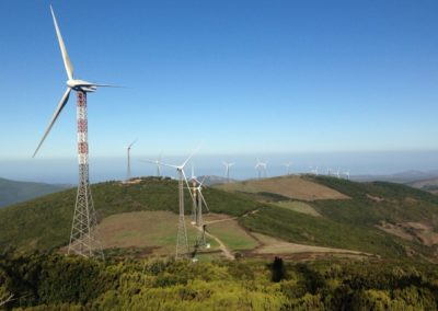 particolare del parco eolico di Aggius, nella frazione di Bonaita