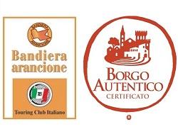 Aggius bandiera arancione e borgo autentico certificato